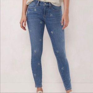 Lauren Conrad Floral Embroidered Super Skinny Jean